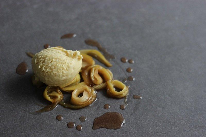 Rezept Rhabarber-Mandel-Eis