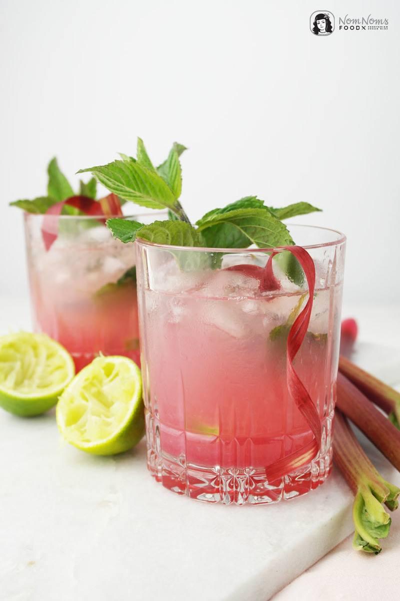 Rezept Rhabarber-Minze-Mojito & Rhabarber-Minze-Sirup