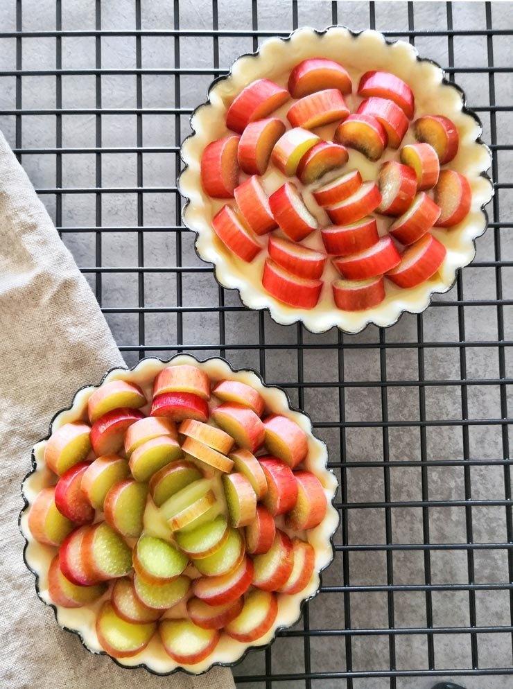 Rezept Rhabarber-Pudding Tartelettes