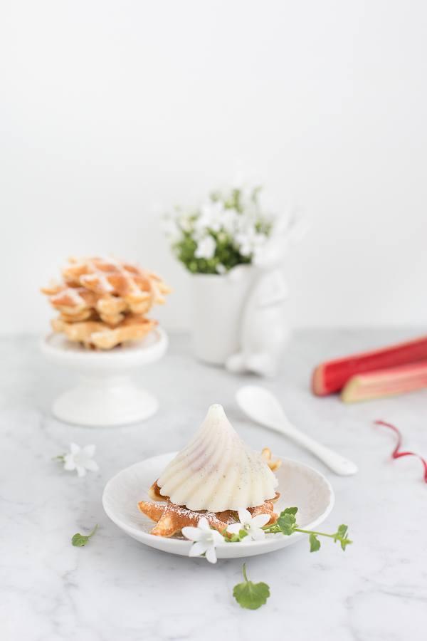 Rezept Rhabarber-Vanille-Eis