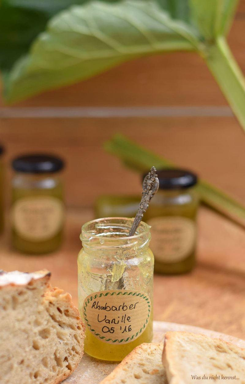 Rezept Rhabarber-Vanille-Marmelade