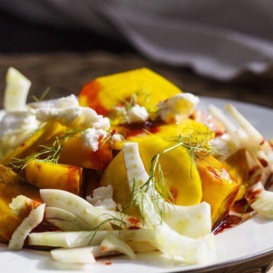 Rezept Ringelbeete-Salat mit Ziegenkäse und Fenchel