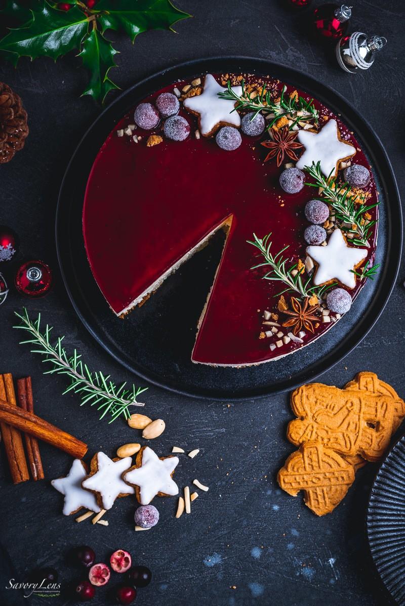 Rezept Risalamande Cheesecake mit Glühwein-Guss
