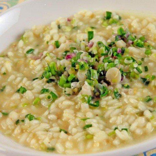 Rezept Risotto mit gruenem Knoblauch