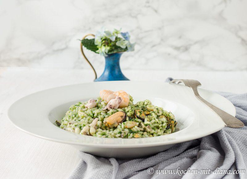 Rezept Risotto mit Meeresfrüchten und Pesto