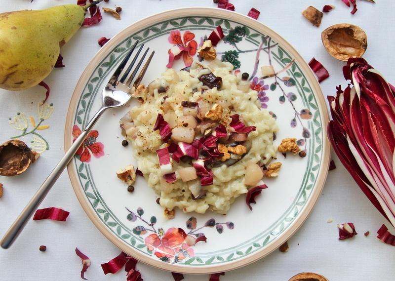 Rezept Risotto mit Radicchio, Birne und Blauschimmelkäse