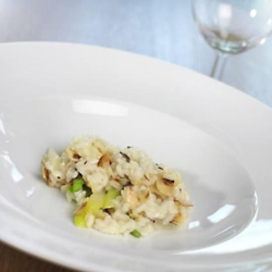 Rezept Risotto mit Spargel und gerösteten Mandelblättern