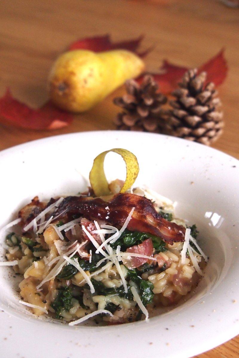 Rezept Risotto mit Speck, Birnen und Grünkohl