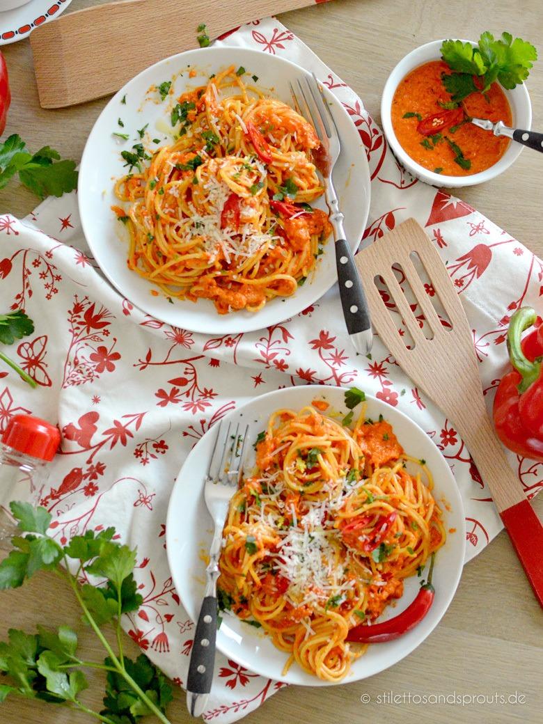 Rezept Roasted Red Pepper Pasta