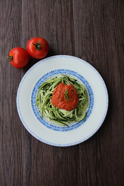 Rezept Roh-vegane Zucchini Spagetthi