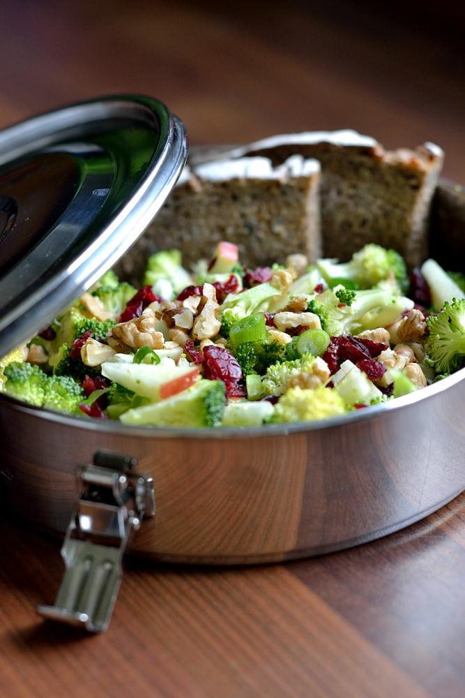 Rezept Roher Brokkoli-Cranberry-Salat mit Apfel