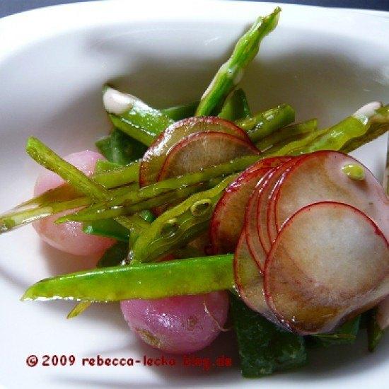 Rezept Roher und gekochter Radieschensalat