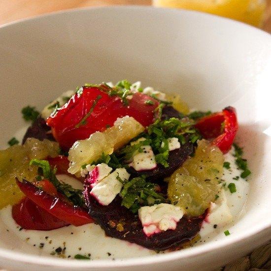 Rezept Rote Beete mit Joghurt und Zitronenrelish