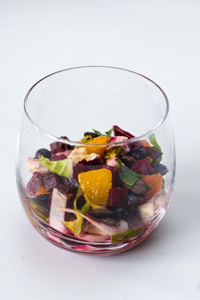 Rezept Rote Beete Salat mit Orange, Chicorée und Blauschimmelkäse