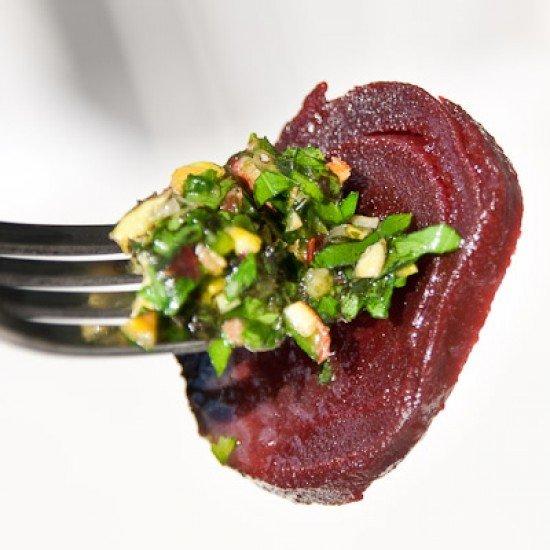 Rezept Rote Beete Salat mit Pistazien Dressing