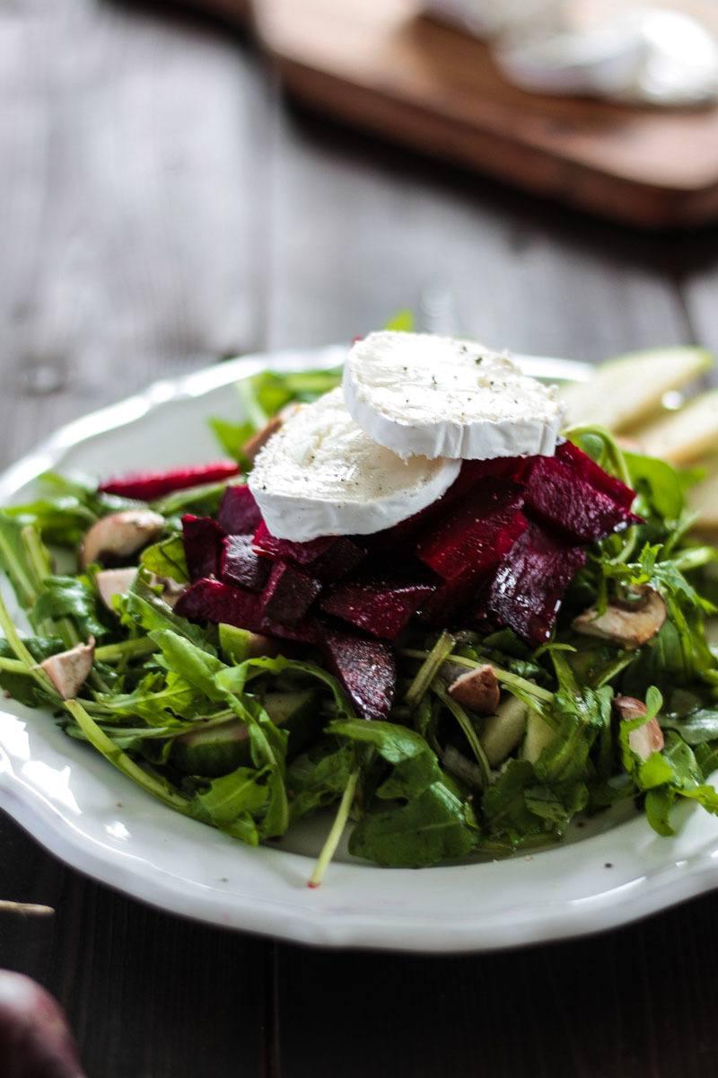 Rezept Rote Beete Salat mit Ziegenkäse