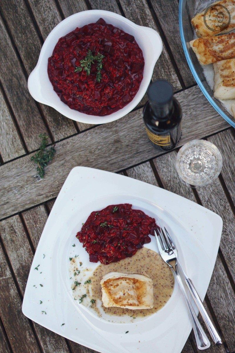 Rezept Rote Bete-Balsamico Risotto mit Kabeljau