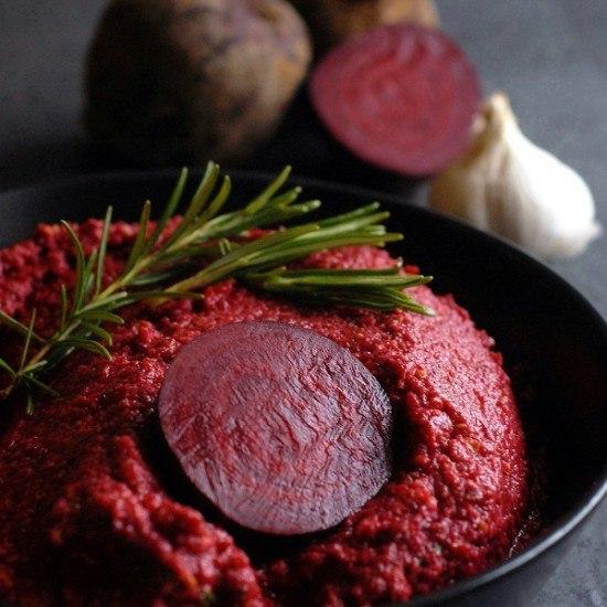 Rezept Rote Bete Pesto mit Pistazien