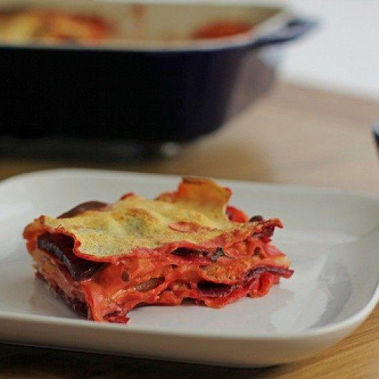 Rezept Rote Bete Räucherlachs Lasagne