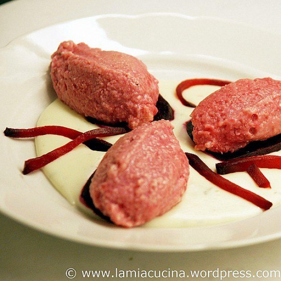 Rezept Rote Bete Ricottine mit Gorgonzolasauce