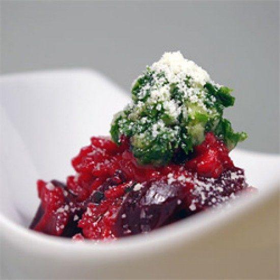 Rezept Rote Bete Risotto mit Petersilienpesto