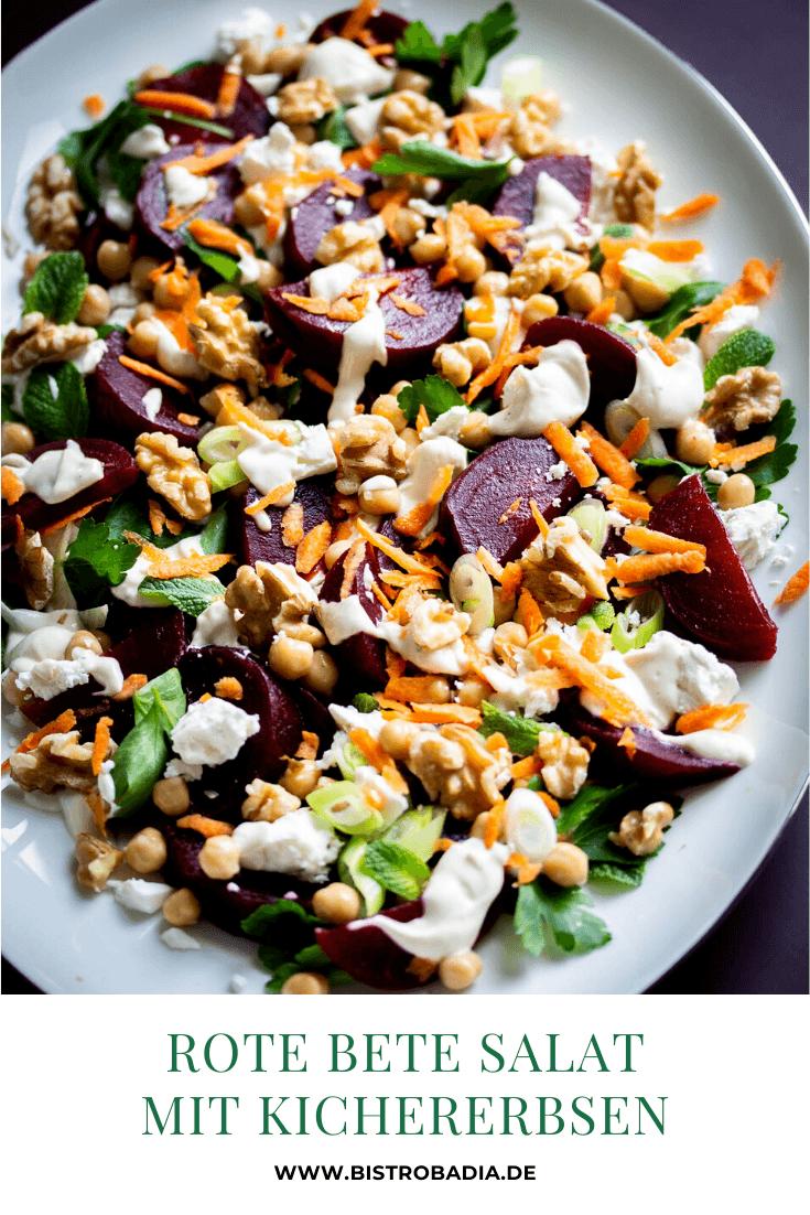 Rezept Rote Bete Salat mit Kichererbsen und Feta