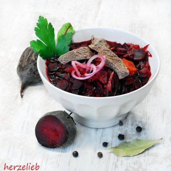 Rezept Rote Bete Suppe - Borschtsch