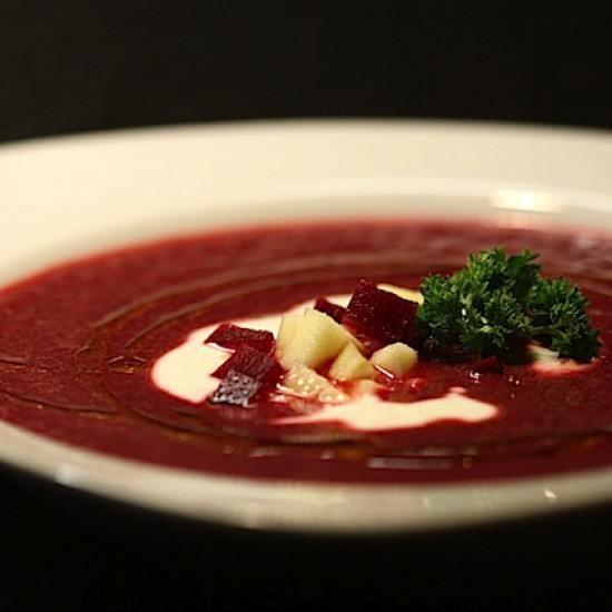 Rezept Rote Bete-Suppe mit Apfel und Ingwer