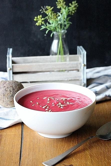 Rezept Rote Bete Suppe mit Zitronengras und Kokosmilch