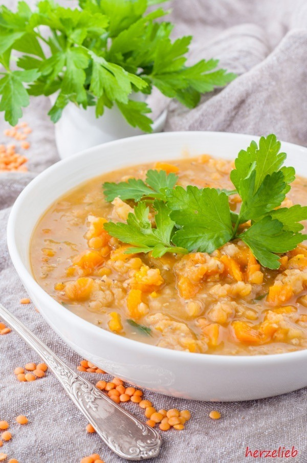 Rezept Rote Linsensuppe