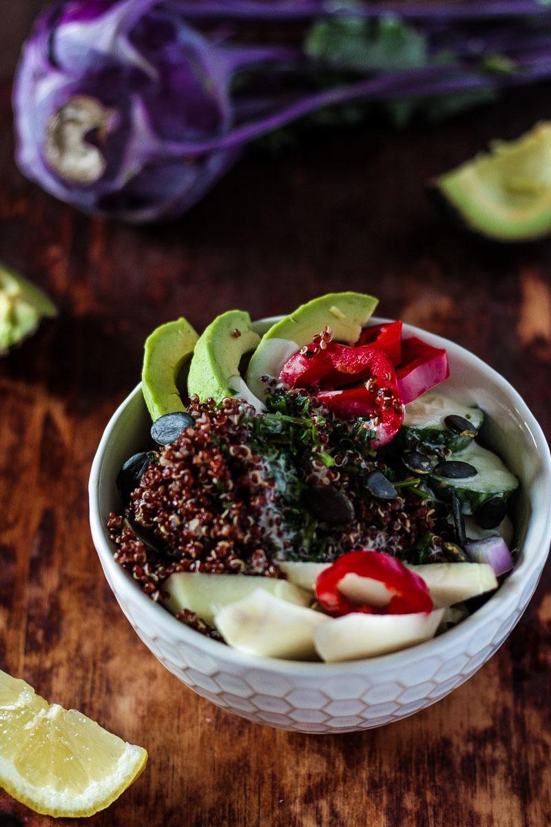 Rezept Roter Quinoa Detox Salat