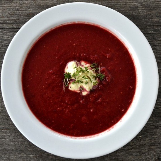 Rezept Rotkohl-Rote Bete Suppe