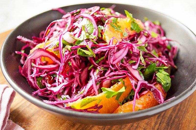 Rezept Rotkohlsalat mit Cranberry und Orange