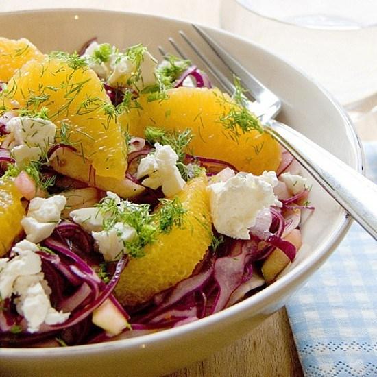 Rezept Rotkohlsalat mit Feta