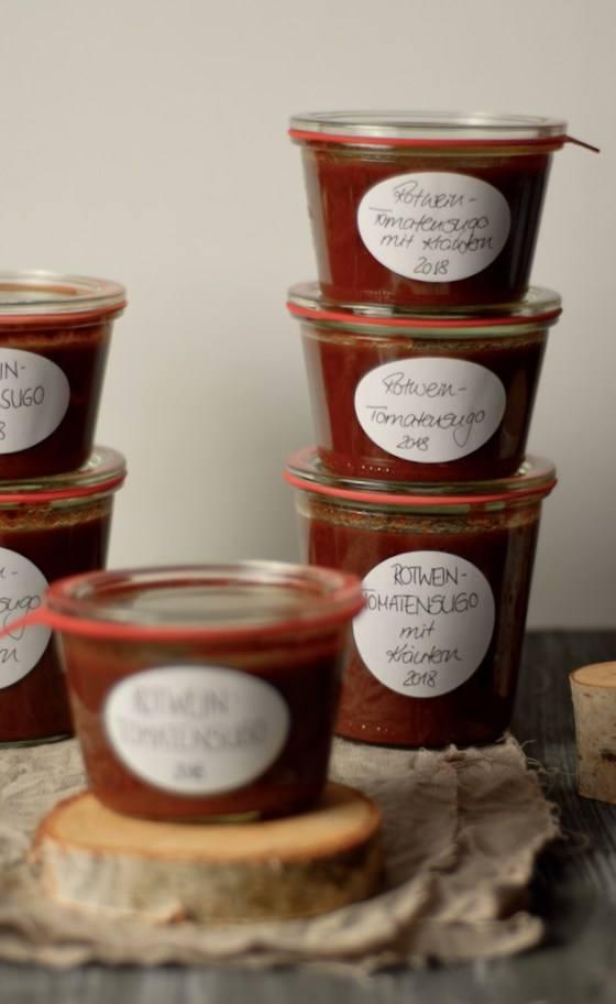 Rezept Rotwein-Tomatensugo mit Kräutern [zum Einkochen]
