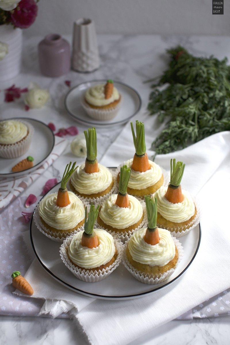 Rezept Rübli Cupcakes mit Frischkäse-Frosting