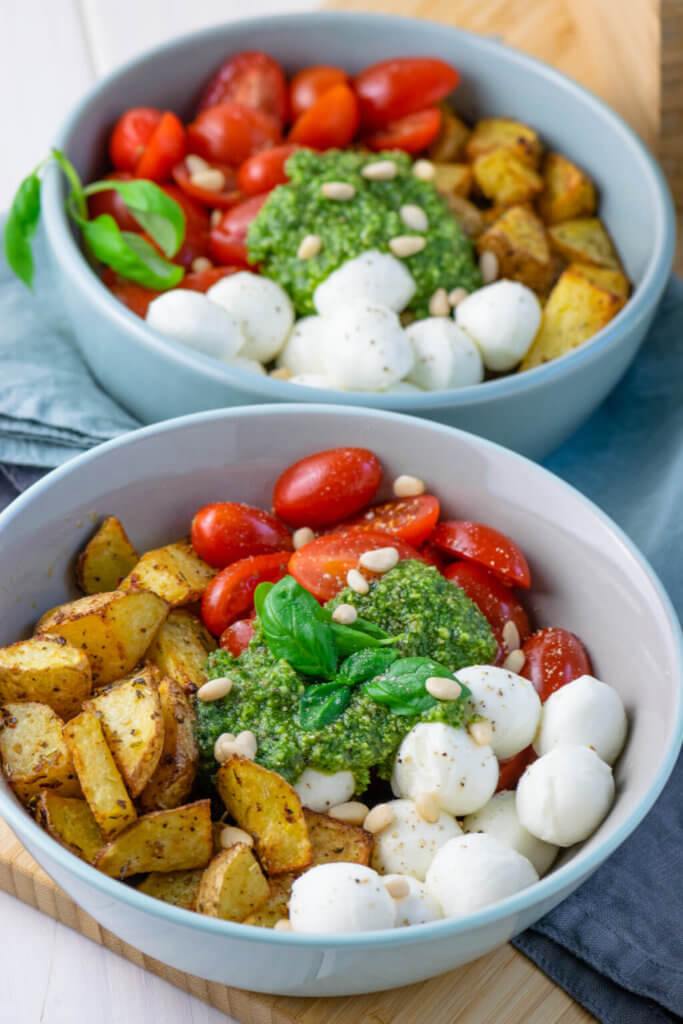 Rezept Ruck zuck fertig: Pesto Potatoe Bowl