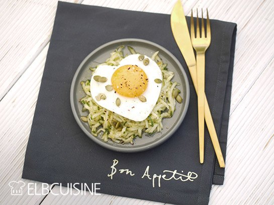 Rezept Ruck-zuck-Zucchini-Salat mit oder ohne Ei – gesund und köstlich!!