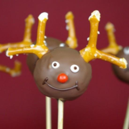 Rezept Rudolph the Red-Nosed Reindeer Cake Pops