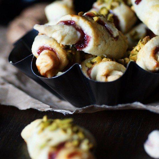 Rezept Rugalach mit Marmelade und Schokocreme