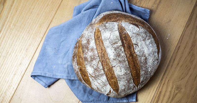 Rezept Rundes Weizensauerteigbrot (ideal für Starter)