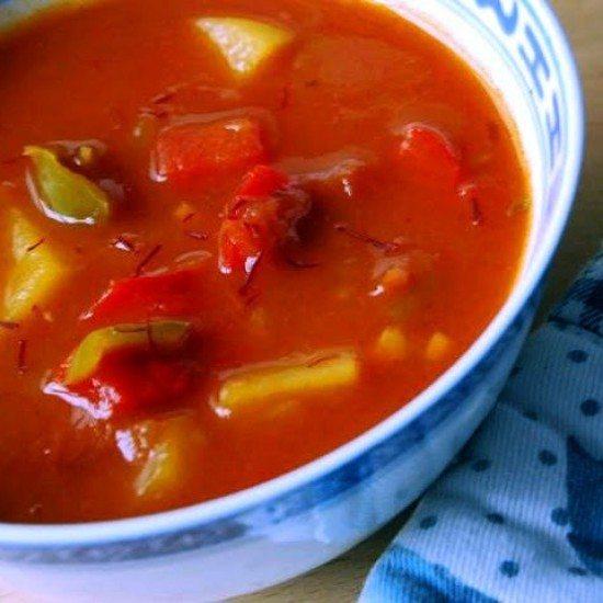 Rezept Safran-Paprikasuppe