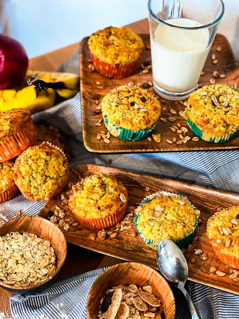 Rezept saftige Apfel (Frühstücks) Muffins