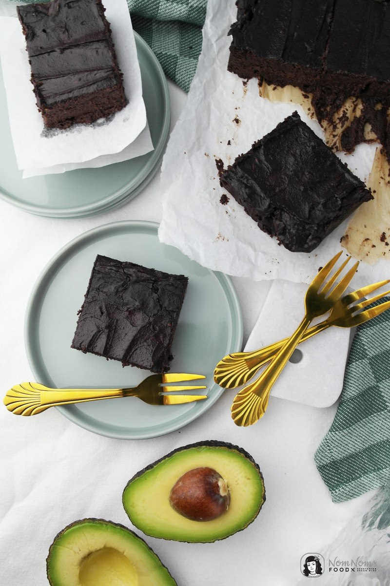 Rezept Saftige Avocado Brownies ohne Mehl