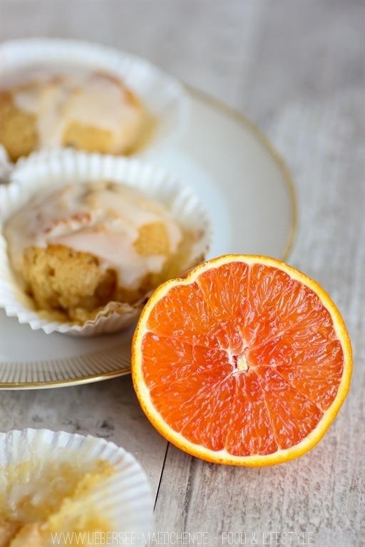 Rezept Saftige Blutorangen-Muffins