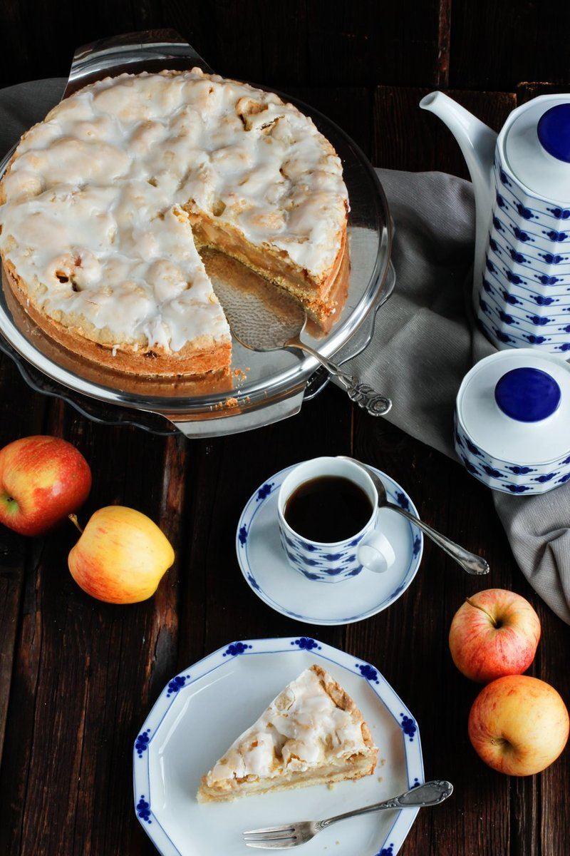 Rezept Saftiger Apfelkuchen Rezept mit Glasur
