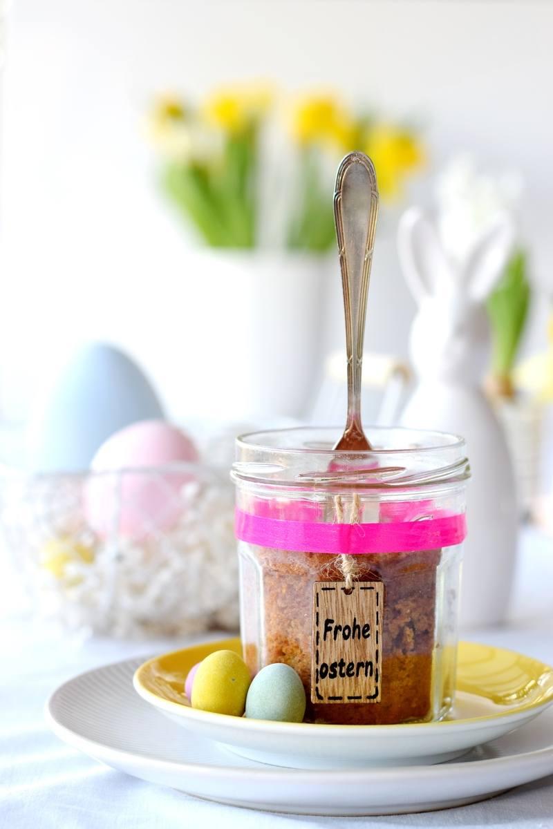 Rezept Saftiger Möhrenkuchen im Glas - einfach, lecker, glutenfrei!