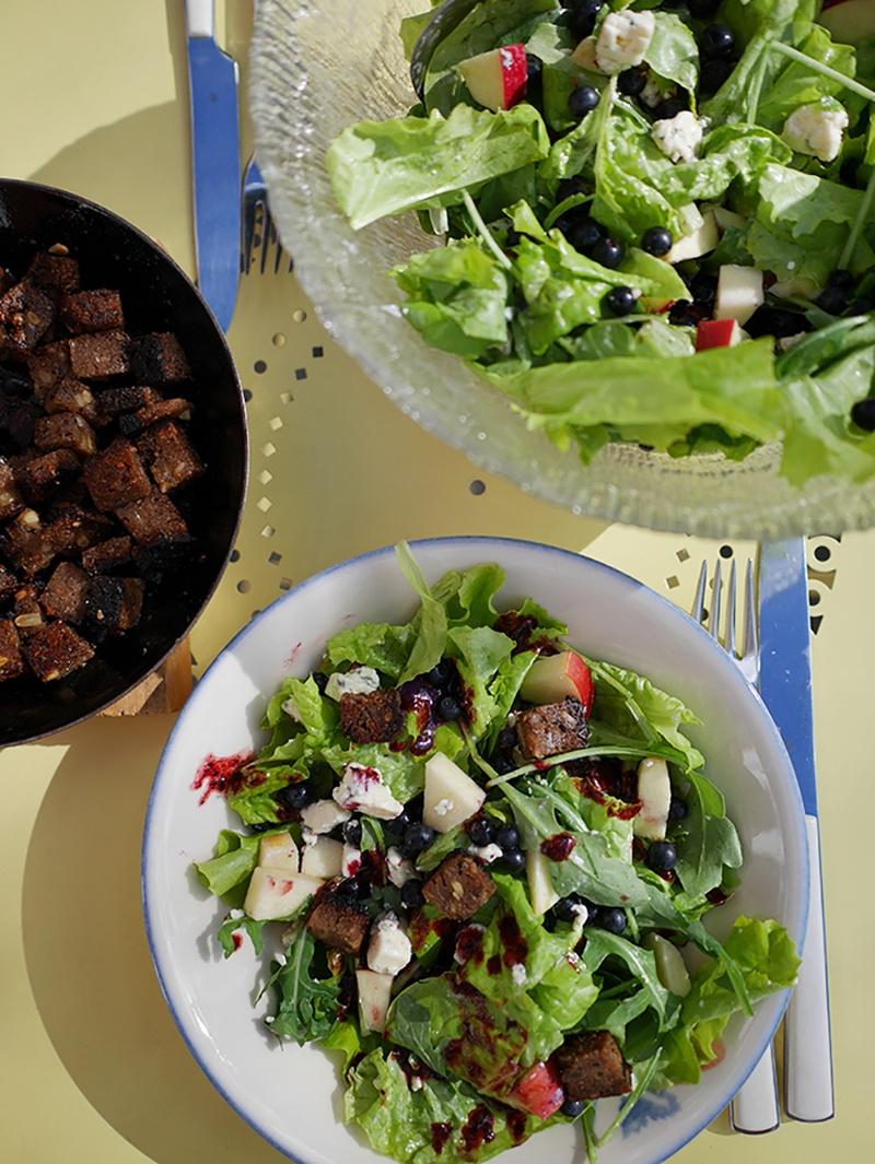 Rezept Salat mit Blaubeeren