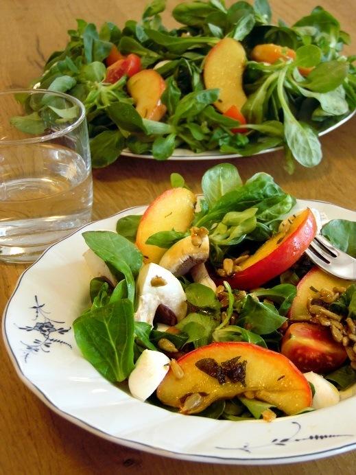 Rezept Salat mit karamellisiertem Apfel