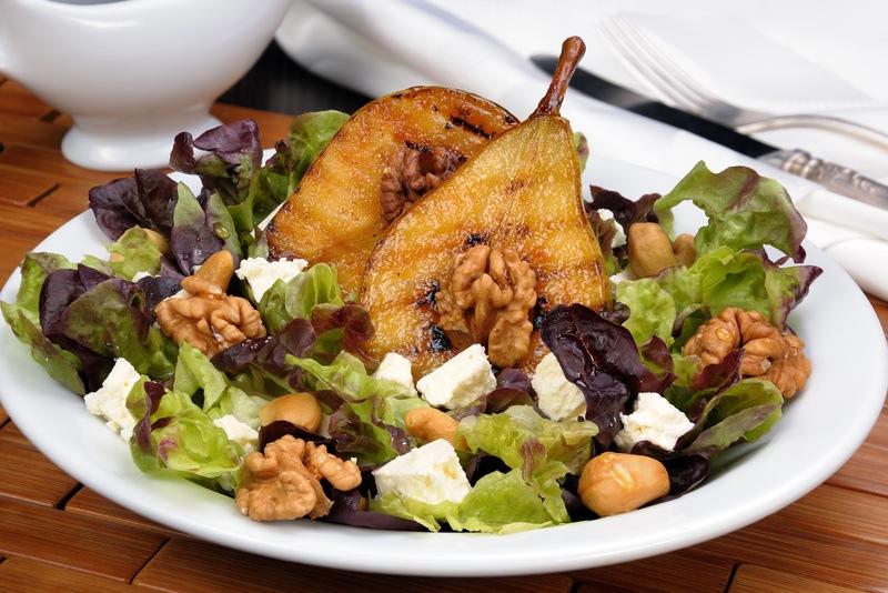 Rezept Salat mit karamellisierten Birnen
